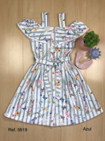 Vestido Infantil Borboletinhas - Kiki Xodó