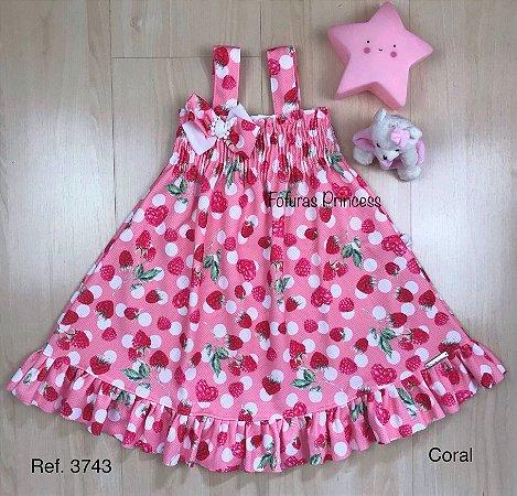 Vestido Infantil Moranguinho - Kiki Xodó