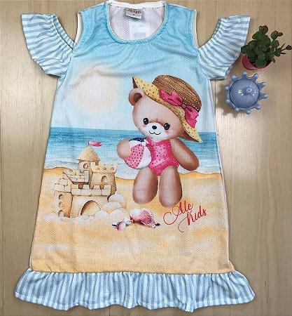 Vestido Infantil Ursinha Fofy - AleKids