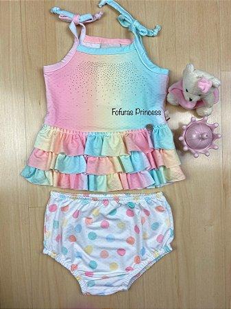 Conjunto Infantil Tie Dye Bebê - Kiki Xodó
