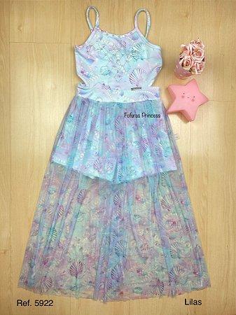 Vestido Infantil Sereia Alegria - Kiki Xodó