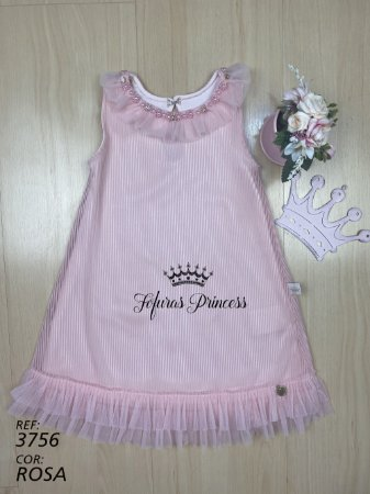 Vestido Infantil Tule Princesa - Kiki Xodó
