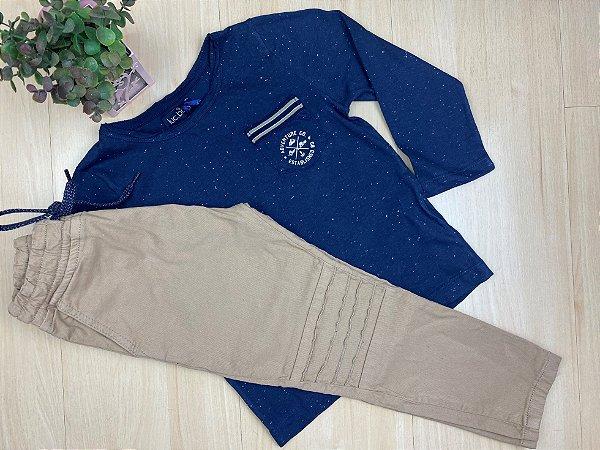 Conjunto Calça e Camiseta Infantil Menino - Luc.Boo