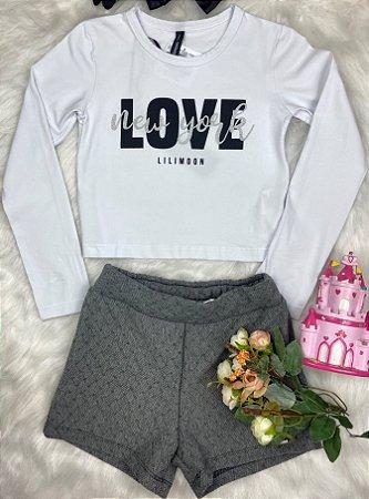 Conjunto Infantil Menina Love New York