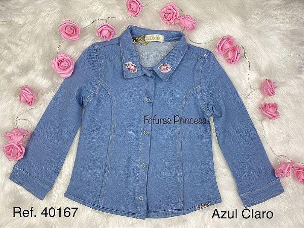 Camisa Jeans Infantil Menina Beijinhos – Kukiê