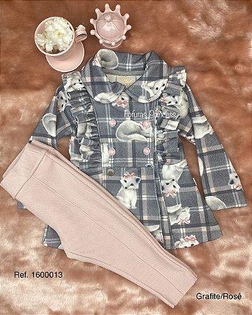 Conjunto Infantil Menina Raposinhas - Kiki Xodó