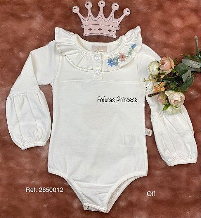 Body Infantil Menina Princesa - Kiki Xodó
