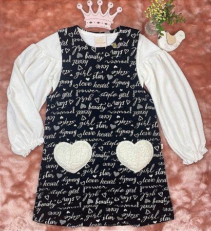 Vestido Infantil Menina Heart - Kiki Xodó