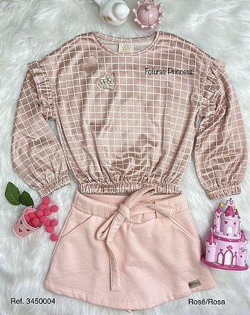 Conjunto Infantil Menina Princesinha - Kiki Xodó