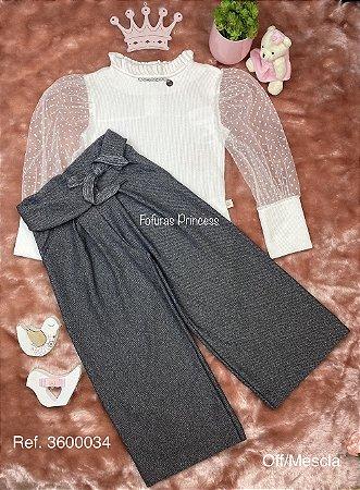 Conjunto Infantil Menina Princesa e Brilhos - Kiki Xodó