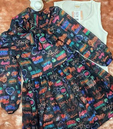 Vestido Infantil Menina Love - Alekids