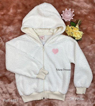 Casaco Infantil Menina de Pelinhos - ByGus