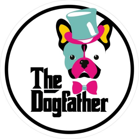 "Adesivo ""The Dogfather'' Branco"