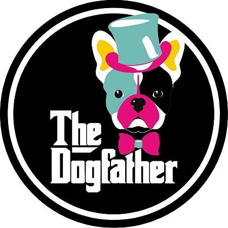 """Adesivo """"The Dogfather'' Preto"""