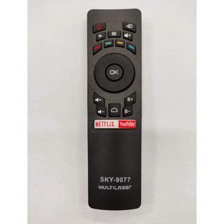 Controle Remoto Multilaser Tv Smart Netflix/YouTube SKY-9077