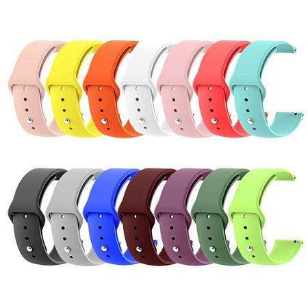 Pulseira de Silicone 22mm - diversas cores