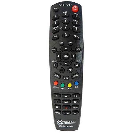 Controle remoto Alphasat Chroma e Alphasat GO