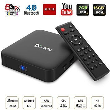 Smart Tv Box Tv Box Tx5 Pro 4k 2GB Ram 16Gb Rom S905X Quad core ARM Cortex-A53