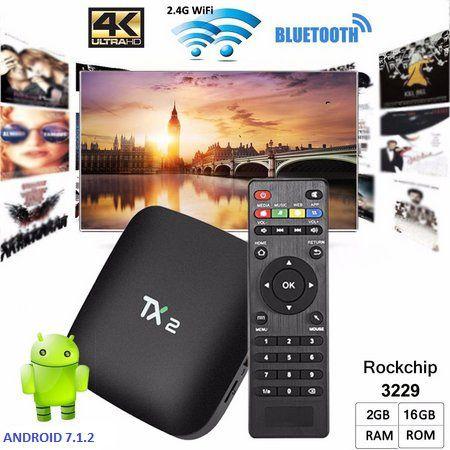CONVERSOR SMART Tanix Tx2 4k 2GB Ram 16GB Rom Rockchip RK3229