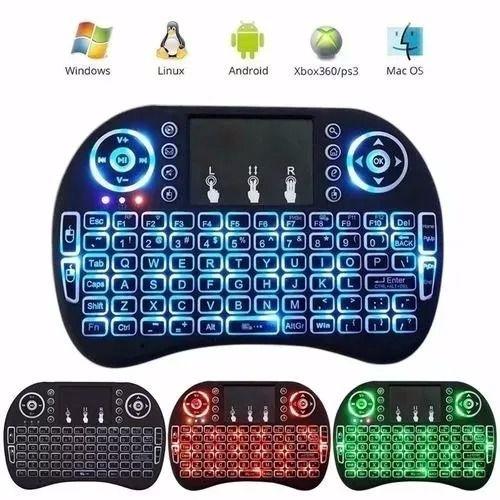 Mini Teclado Sem Fio Led Luz Wireless Touch Pad Universal