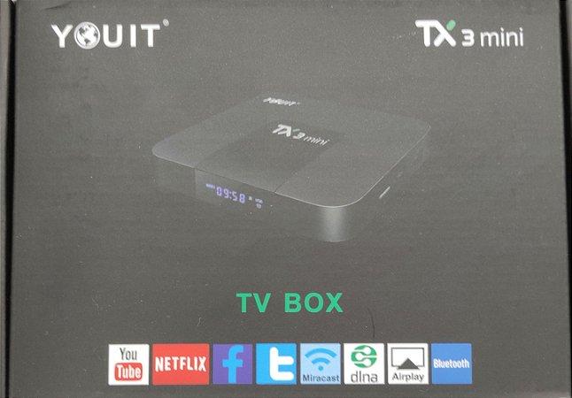 CONVERSOR SMART TX3 OCTACORE 5G DUAL BAND BLUETOOTH 3GB RAM 16 GB YOUIT