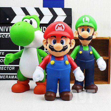 Kit 3 Bonecos Super Mario Bros Collection Caixa Original