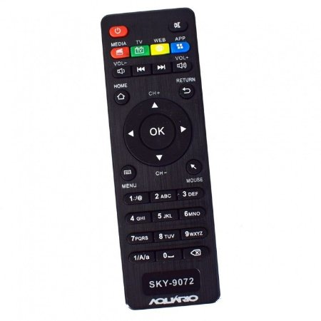Controle remoto TV box Tomate MCD - 121