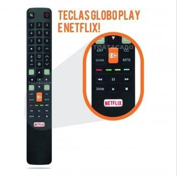 CONTROLE PARA TV TCL - SEMP TOSHIBA NETFLIX