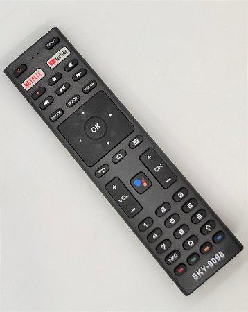 Controle remoto para TV Smart JVC Android SEM COMANDO DE VOZ