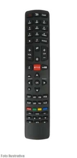 CONTROLE REMOTO TV LCD PHILCO NETFLIX 7487