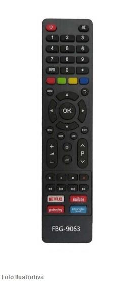 CONTROLE REMOTO TV SMART PHILCO NETFLIX/YOUT/GLOBOP 9063
