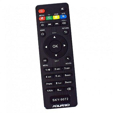 CONTROLE REMOTO TV BOX - TV Box Aquário STV-2000 BOTÃO MEDIA TV WEB APP