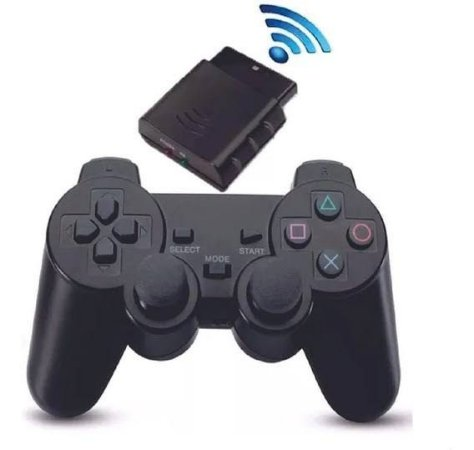 CONTROLE JOYSTICK PLAYSTATION 2 Sem Fio