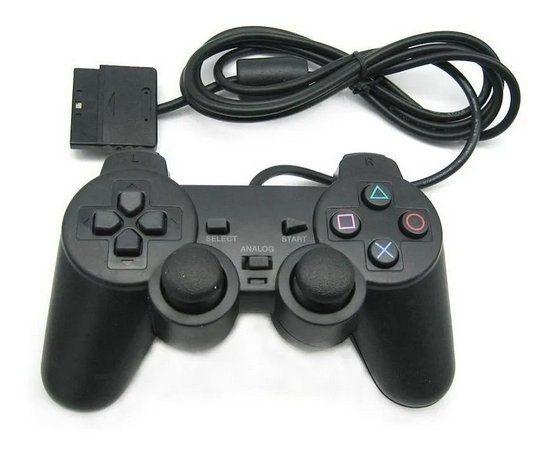 CONTROLE JOYSTICK PLAYSTATION 2 Com Fio