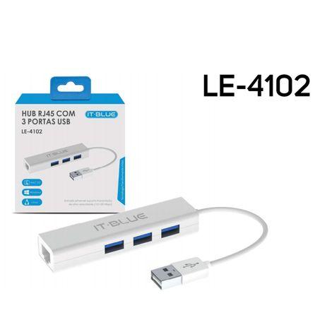 HUB RJ45 com 3 Portas USB
