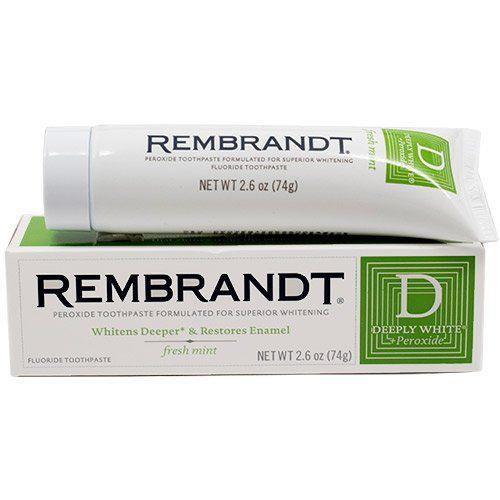 Creme Dental Branqueador Rembrandt Deeply White Peroxide Noximports