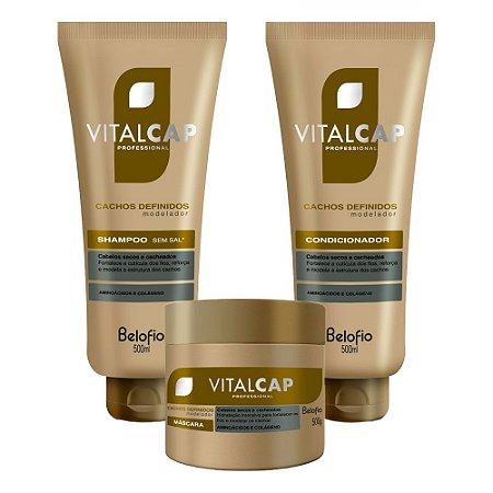 Kit Vitalcap Cachos Definidos Belofio