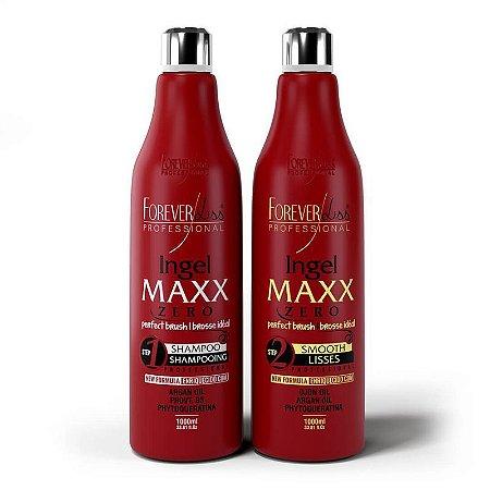 Realinhamento Capilar Ingel Maxx 2x1 litro Forever Liss