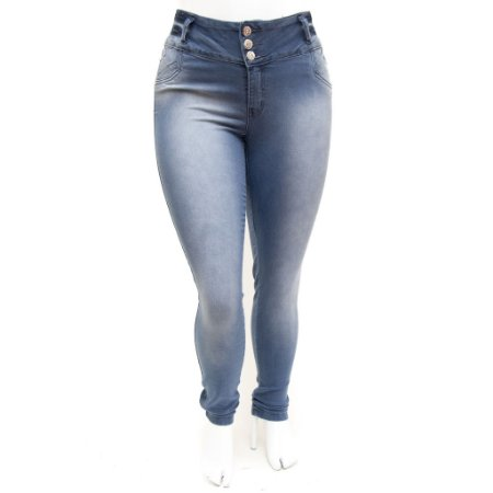 Calça Jeans Clara Feminina Plus Size Cintura Alta Legging Credencial
