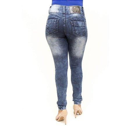 Calça Jeans Feminina Manchada Legging Thomix Levanta Bumbum