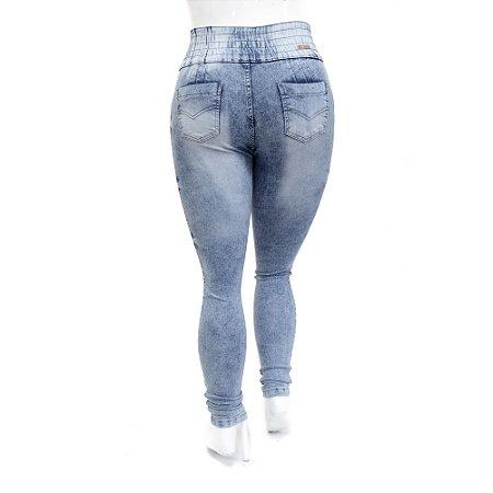 Calça Jeans Feminina Plus Size Helix Manchada