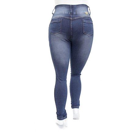 Calça Jeans Plus Size Feminina Meitrix Escura