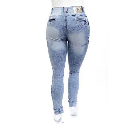 Calça Jeans Plus Size Feminina Manchada Cheris