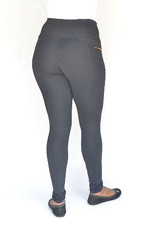 Calça Legging Montaria Tecido Poliamida Cós Alto