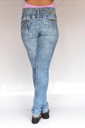 Calça Jeans Legging Manchada Credencial Levanta Bumbum