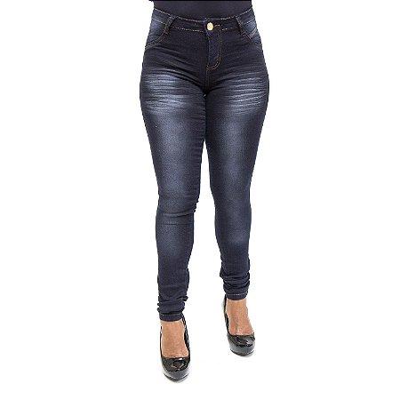 Calça Jeans Feminina Escura Hot Pants Helix Cintura Alta