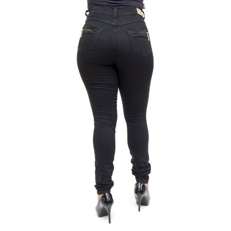 a2dbe77f3 Calça Jeans Preta Feminina Hot Pants Helix Levanta Bumbum - Andando ...