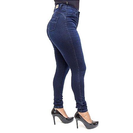 Calça Jeans Hot Pants Feminina Escura S Planeta com Elastano
