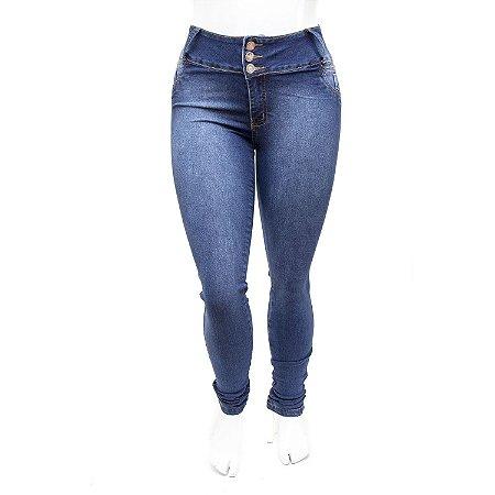 Calça Jeans Plus Size Azul Feminina Credencial com Elastano