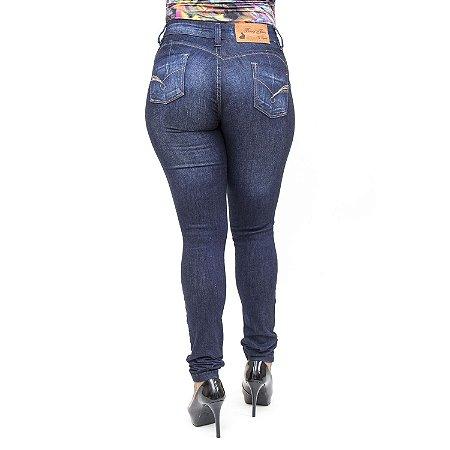 Calça Jeans Bunny Feminina Hot Pants Azul Escura